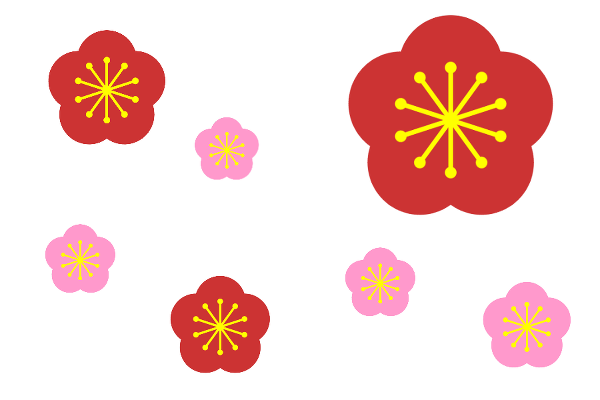 Gimp簡単に梅の花を描く方法 なんてんブログ