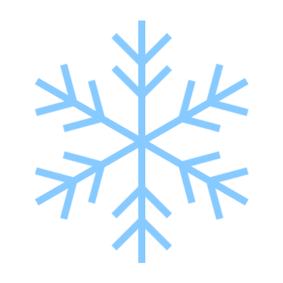 雪の結晶のできあがり