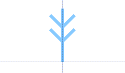 雪の結晶のパーツ