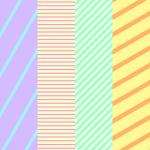 縞模様の描き方:縞模様(ストライプ柄)のイラスト