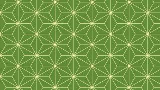 麻の葉模様のイラスト