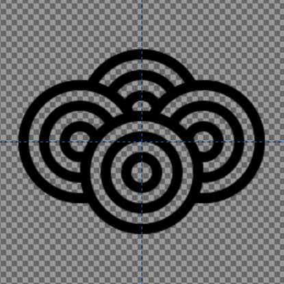 青海波の描き方:青海波のパターン