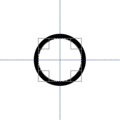 半径50pxの白丸