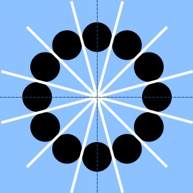 12個黒丸を回転