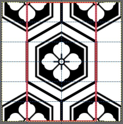 パターン部分にキャンバスを合わせる