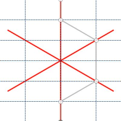 パスで六角形の半分を作る