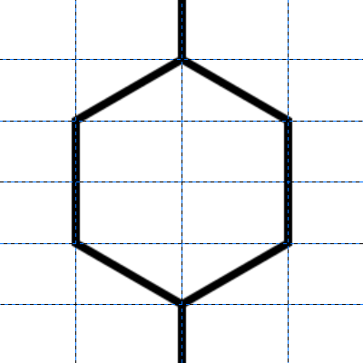 六角形の完成