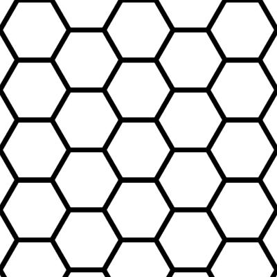 蜂の巣型のイラスト