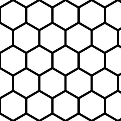縦向きの蜂の巣型のイラスト