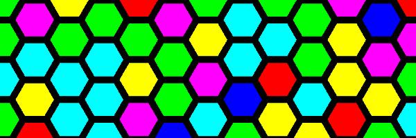 カラフルな六角形のイラスト