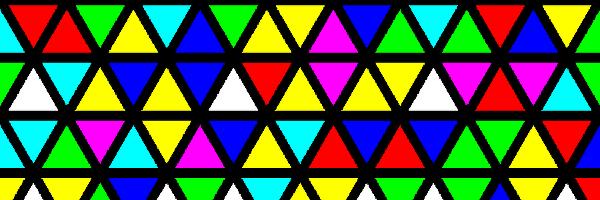 カラフルな三角形のイラスト