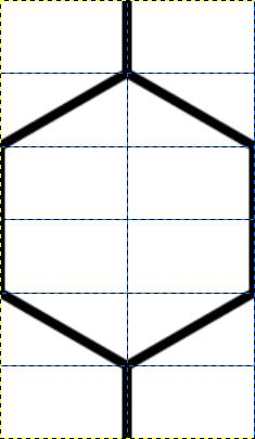 亀甲模様のパターン
