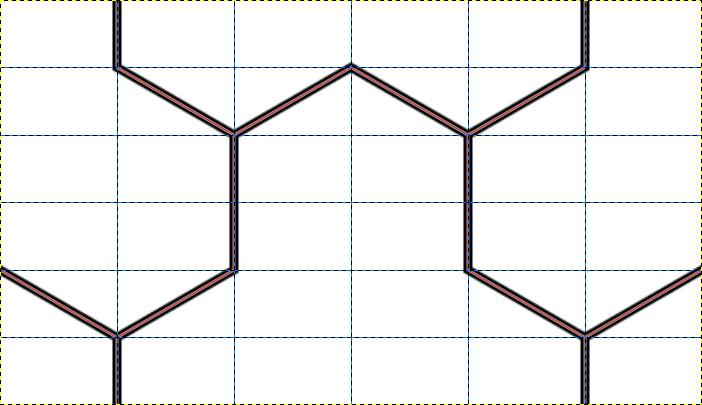 毘沙門亀甲のパターン