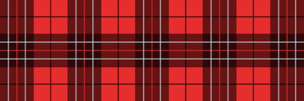 タータンチェックのイラスト赤