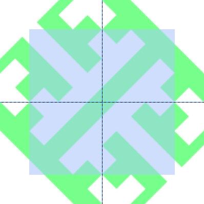 パターン部分を切り取る